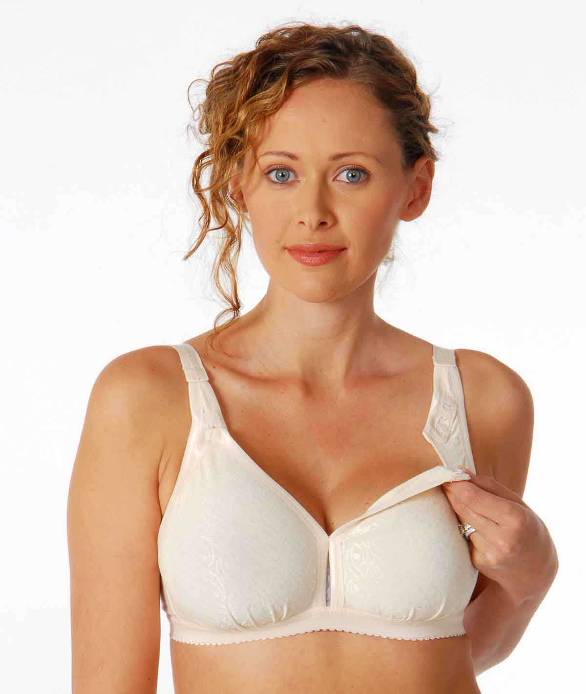 The 2x was equivalent to Soma's 40DD full coverage nursing bra. Maybe my boobs got bigger than most pregnant women's, but these (and other maternity bras) seemed to run a little small on me.